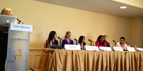 Linda Sherman Moderating Digital Hollywood Panel at Ritz Carlton