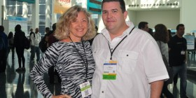 Linda Sherman and CC Chapman at BlogWorld 2011