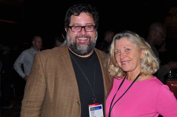 Chris Heuer with Linda Sherman NMX