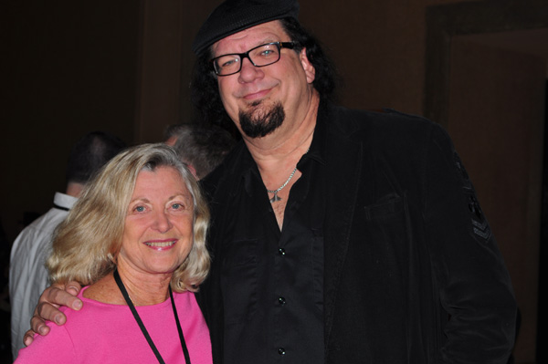 Linda Sherman with Penn Jillette NMX