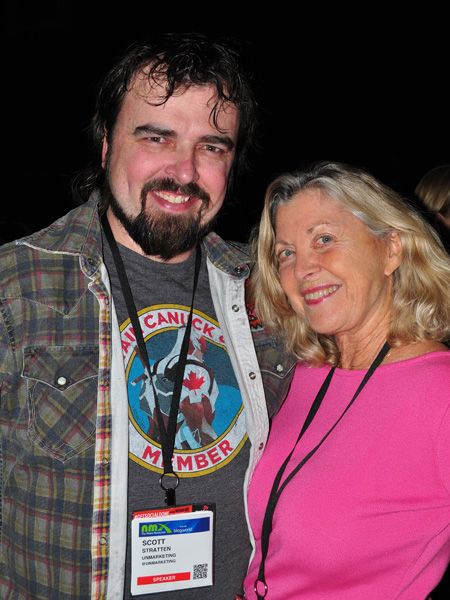 Scott Stratten with Linda Sherman NMX