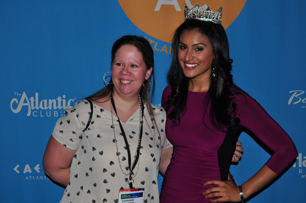 Stephanie with Miss America