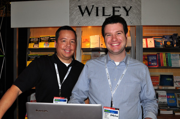 Wiley booth NMX 2014 Paul Chen Peter Knox photo by Linda Sherman