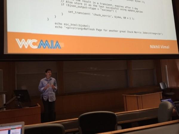 """Nikhil Vimal WCMIA """"Integrating Third-party APIs with WordPress"""""""